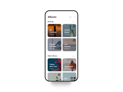 Albums Edit. photos trash motion delete interface black iphonex clean white ux ui design animation