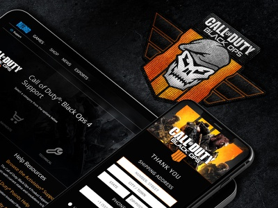 Call of Duty: Black Ops 4 dark mode dark mobile web design gamification graphic design badge iconography logo apparel activision blizzard black ops call of duty