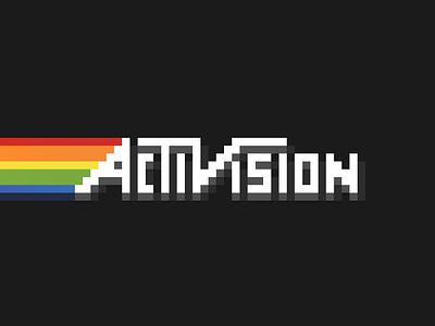 Activision Pride Vintage rainbow spectrum gaming game vintage pride atari pixel art pixel graphic logo branding