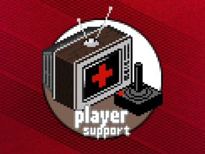Player Support Vintage vaporwave call of duty activision atari game graphic branding illustration icon pixel isometric