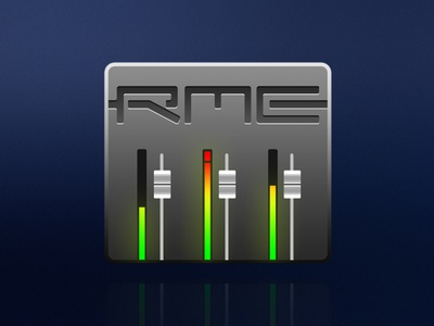 RME TotalMix Icon skeuomorph mixer recording osx modern logo illustration iconography icon graphic branding audio app