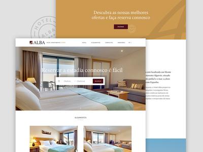 Hotel Alba hotel landing page webdesign website