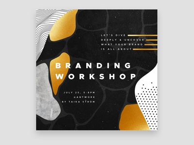 Taika Ström graphic design branding social media workshop cover