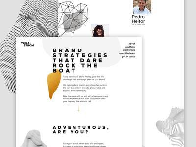 Taika Ström website bold patterns landing page one page website webdesign