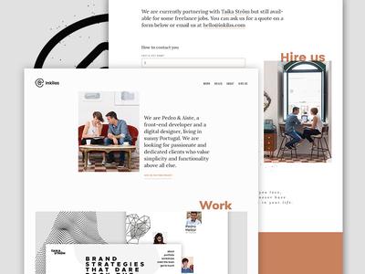 Inkilas website branding personal portfolio portfolio landing page webdesign website