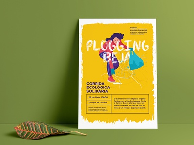 Plogging Beja Poster design environment eco run eco plogging graphic design poster