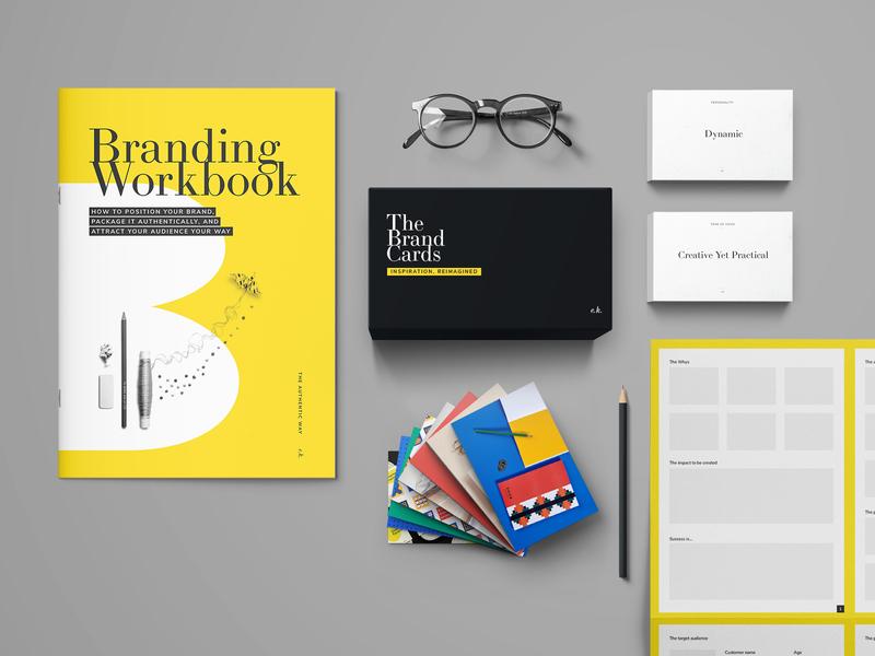 Branding kit mockup design canvas mockup box design cards workbook product design mockups graphic design
