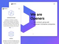 Openers Website - Homepage