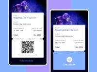 Event Ticket UI