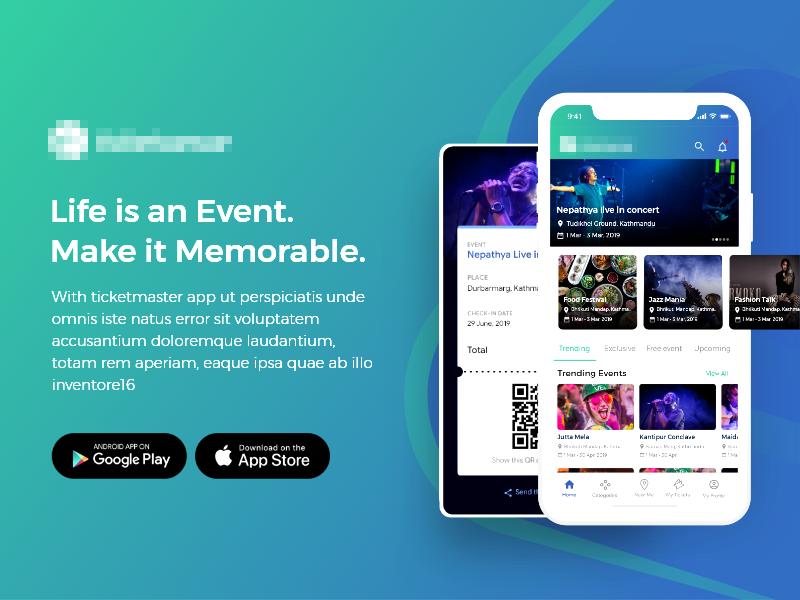 Event Booking App mobile event app event ui