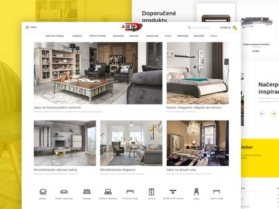 Furniture e-shop homepage | Ajeto webdesign ux ui ecommerce eshop e-commerce e-shop furniture