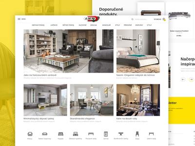 Furniture e-shop homepage   Ajeto webdesign ux ui ecommerce eshop e-commerce e-shop furniture