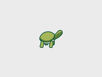Slow and Steady flat minimal turtle vector illustration design icon adobe illustrator