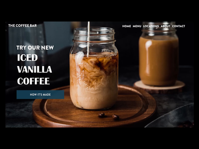 Coffee Landing Page Interaction Exploration