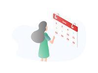 Isometric Illustration See Calendar