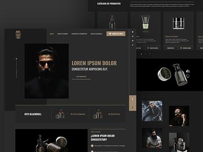 BlackBull Landing products dark man beard homepage webdesign brand web web design guatemala ui ux design website