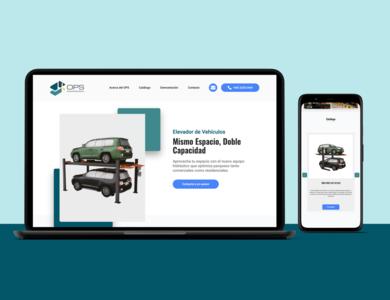 OPS home web design webdesign web homepage design guatemala ui ux website
