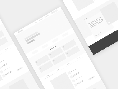 Wireframe landing page design home web design website homepage webdesign web prototype landing guatemala strategy ux wireframe