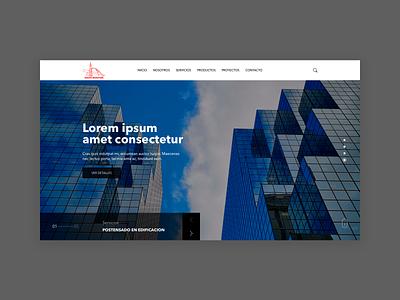 Grupo Muratori bridges builder portfolio brand catalogue home homepage webdesign prototype web web design ui ux guatemala website design