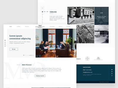 Molina Mencos, Pineda & Asociados WebSite white minialista legal law law firm brand web prototype branding home homepage webdesign web design guatemala ux ui website design