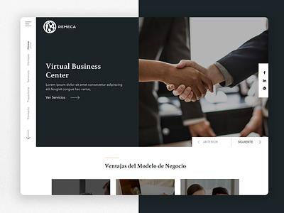 Remeca WebSite clean userinterface designer landing webdesign prototype web brand web design homepage design guatemala ui ux website