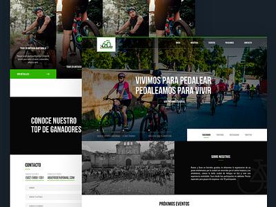 Ciclist Club biker landing home homepage webdesign prototype web branding guatemala ux ui website design