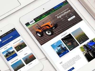 Lovol Guatemala tractors web design brand webdesign catalogue landing branding designer homepage prototype web logo guatemala ux ui website design