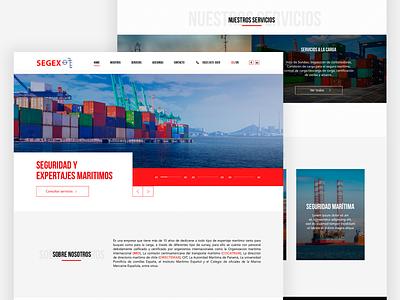 Segex LandingPage maritime designer branding landing home homepage webdesign prototype web brand web design guatemala ui ux website design