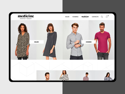 Wearmet E-commerce minimal white moda fashion ecommerce logo home branding homepage webdesign prototype web brand web design ui ux guatemala website design