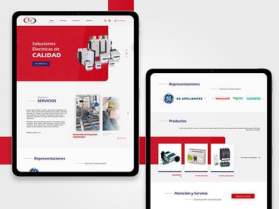 Eltecsa Home electric home homepage web guatemala webdesign ux ui website design