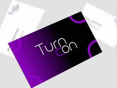 Turn On logo videomapping guatemala collateral events design typography branding vector logo