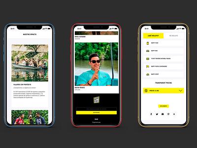 Happy People! =) simple cool design sober black yellow homepage web web design ux ui guatemala design website minimalist