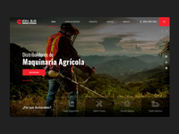IDH WEBSITE red industrial agriculture guatemala homepage webdesign brand web design design ui ux website