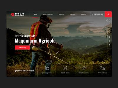 IDH WEBSITE red industrial agriculture guatemala homepage webdesign brand web design design ui ux website