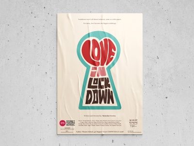Poster Design | 99 series lockdown red contest brute typogaphy 60s design theatre play poster
