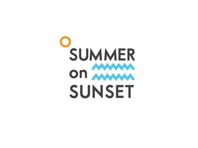 Event Branding Design | 99 series los angeles sunset summer colorful abstraction logo icon minimal design branding event
