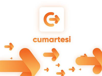 Logo and V-Language Design | P App Design light colorful design branding appicon gradients neumorphism minimal cumartesi concept folding arrow food orange icon logo app