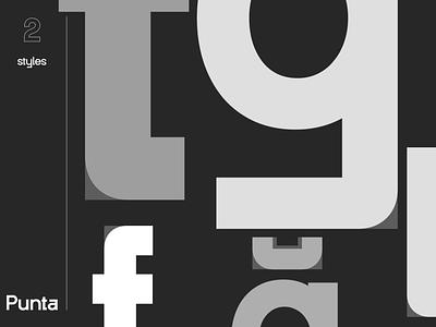 New Font Teaser | Punta Works logodesign ui typography logo icon branding minimal sans serif sharp typeface type design font