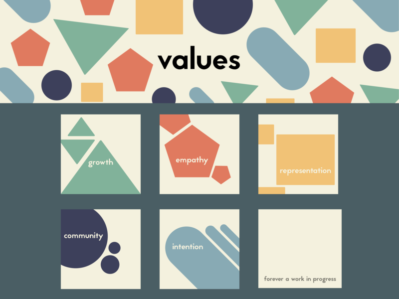 My Values | Header and Posters