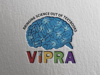 Vipra Logo science logodesign experiments sciencelearning logo design logo