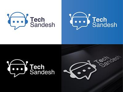 Tech Sandesh Logo design illustration vector logo