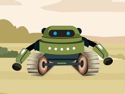 Spy Mission R-Me Robot mascot army illustrator coreldraw illustration vector