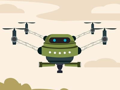 Air Force R-Me Robot skyrobot army mascot illustrator coreldraw illustration vector