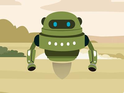 Spy R-Me Robot vector illustrator coreldraw illustration