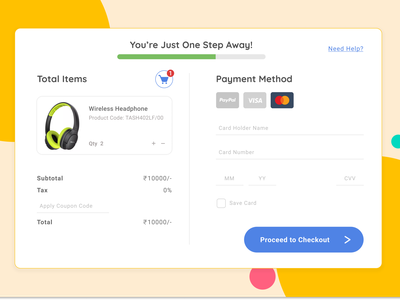Credit Card Checkout design userrsearch ux figma checkoutui checkoutscreen figmadesign userinterface ui