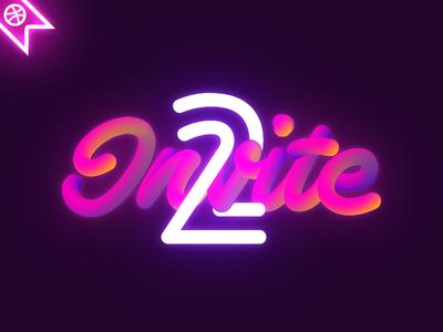 2 Dribbble Invites dribbble giveaway invite invitation typography 2 invites