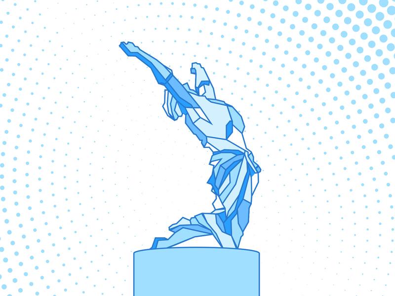 Statue of Azadi (Liberty) illustration shape geometric square iran sanandaj eghbal statue azadi liberty