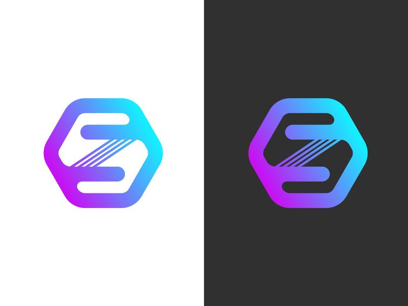 S Z Monogram gradient minimal monogram logo z s