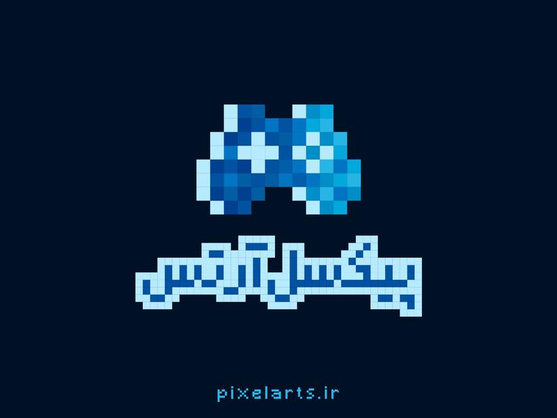 pixelarts logo vector website logotype design game controller logo game pixelart pixel