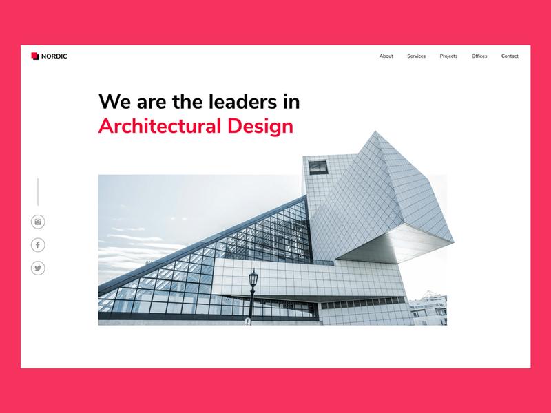 Nordic Landing Page ux figma webflow minimal modern landing page ui